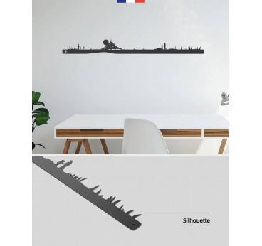Mont Saint-Michel metal skyline for a modern interior