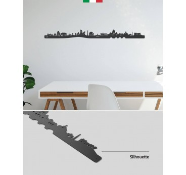 Rome skyline metal wall decoration for a design touch