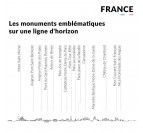 Places and monuments of our France skyline wall decoration for you interior