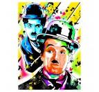 Toile imprimée Charlie Chaplin avec un style street art pour votre déco intérieure
