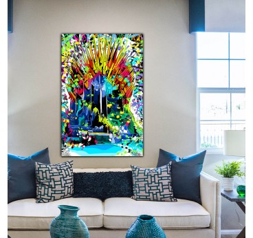 Street art canvas print of Game of Thrones for a modern interior decoration