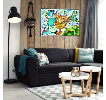 Tableau street art de Garfield pour une décoration murale originale