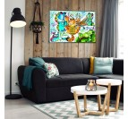 Garfield street art canvas for a colorful wall decoration