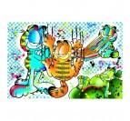 Garfield wall art canvas with a street art version