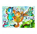 Toile imprimée street de Garfield par nos artistes Artwall and Co