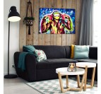 Street art canvas of a funny monkey for a pop art wall decoration