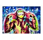 Tableau street art de singe dans une décoration murale contemporaine