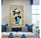Monopoly street art canvas for a modern wall decoration