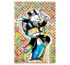 Monopoly street art canvas with luxurious brands