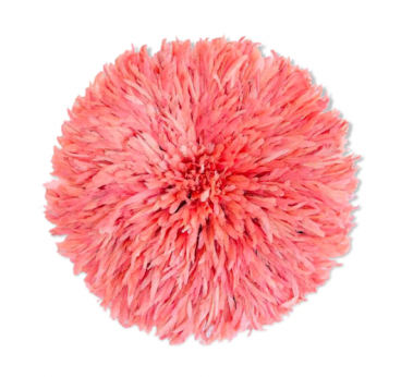 Pastel pink juju hat for an african wall decoration