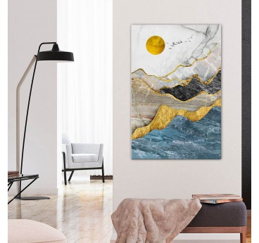 Oil painting on canvas of mountains for a wall decoration