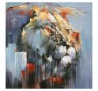 Toile peinture lion abstrait avec un style coloré pour votre déco intérieure