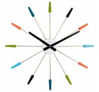 Multicolor wall clock for a design wall decoration