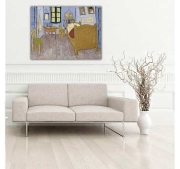 Painting reproduction on canvas of the Bedroom from Van Gogh for your wall decoration