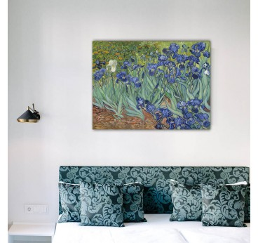 Reproduction oil painting of the work art Les Iris from the artist Van Gogh