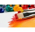 Brush to create our oil painting on canvas