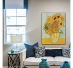 Painting reproduction of the frame the Sunflowers from Van Gogh for your wall decoration