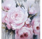 Handmade oil painting on canvas of roses for your interior decoration