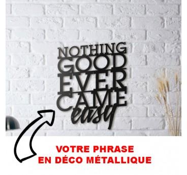 Décoration en métal personnalisée de votre phrase ou citation pour avoir une déco murale exclusive