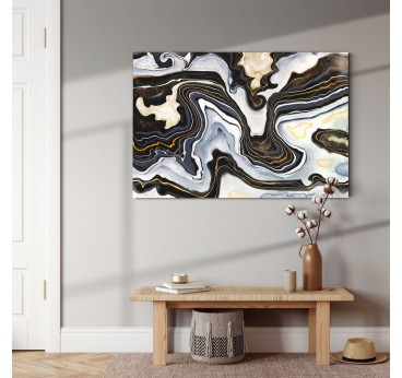 Tableau abstrait nuit noire avec un style contemporain pour votre décoration murale