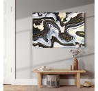 Abstract wall canvas print for wall decoration with a black and white touch