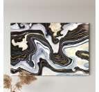 Focus on our black night abstract canvas
