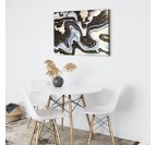 Abstract wall decoration with our design black night canvas print for interior