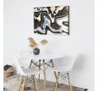 Toile imprimée abstraite en noir et blanc pour une décoration murale contemporain