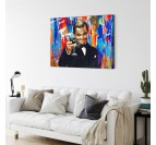 Street art canvas print for wall decoration of Leonardo Dicaprio in the movie Gatsby
