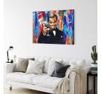 Tableau pop art du film Gatsby pour votre déco murale avec des couleurs explosives