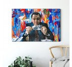 Big size of the wolf of wall street design canvas art
