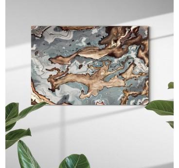 Tableau abstrait bronze dans une décoration murale moderne et élégante