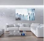 Tableau abstrait de cascade pour créer une décoration murale tendance