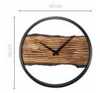 Dimensions de notre horloge murale calm avec un bois central
