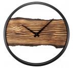 Horloge murale calm avec un effet bois pour votre décoration murale