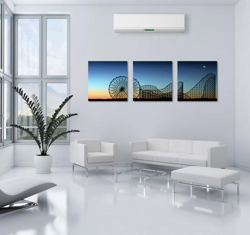 tableau contemporain sunset attraction park. Black Bedroom Furniture Sets. Home Design Ideas