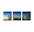 Sunset Attraction Park on canvas decoration