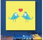 Bird lovers Decorative Art Print