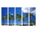 Miami Beach design canvas print with blue color