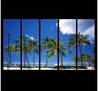 Tableau décoratif des palmiers de Miami en plusieurs panneaux