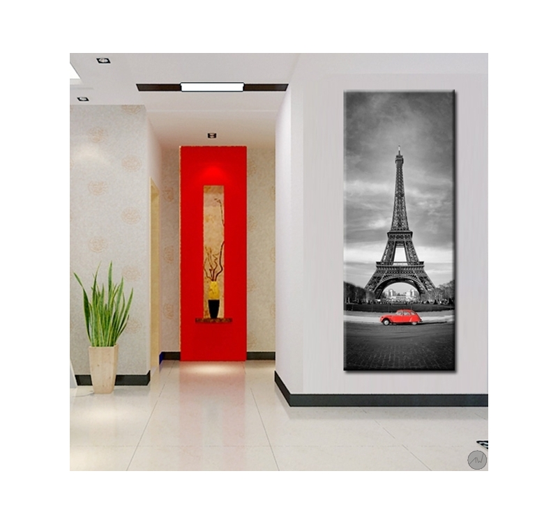 Tableau tour eiffel design artwall and co for Tableau noir et blanc design