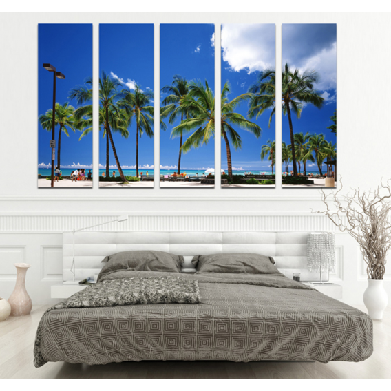 South Beach Miami Decoration Canvas