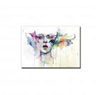 Tableau Femme Abstrait en Couleur