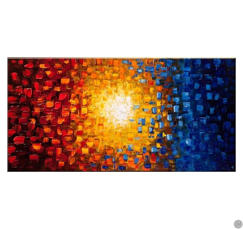 Soleil De Couleur Tableau Peinture Artwall And Co