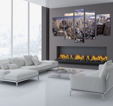 Canvas print of the city of new york in a wall decoration