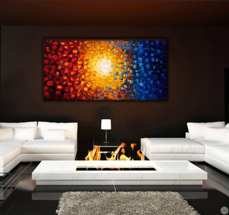 Soleil de Couleur Tableau Peinture - ArtWall and Co