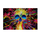Tableau moderne skull pop art coloré