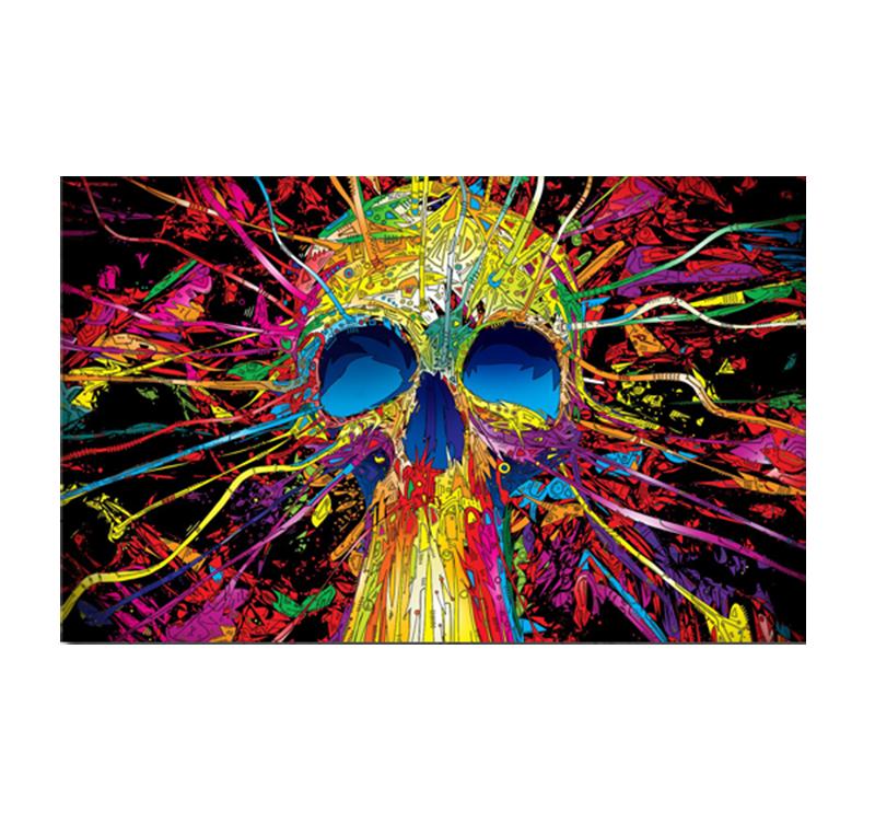Skull Color Blast Pop Art Canvas Artwall And Co