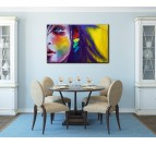 Colorful Woman Decorative Art Print