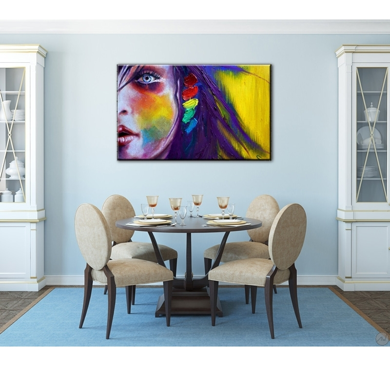 Tableau d co femme en couleur artwall and co for Meuble zen home tunisie